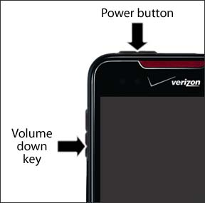 Power button and Volume down key