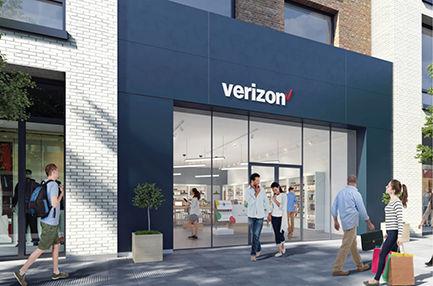 Frente de una tienda Verizon